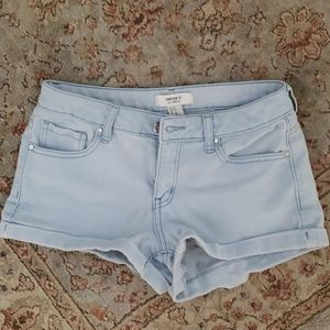 Forever 21 roll up denim shorts size  27